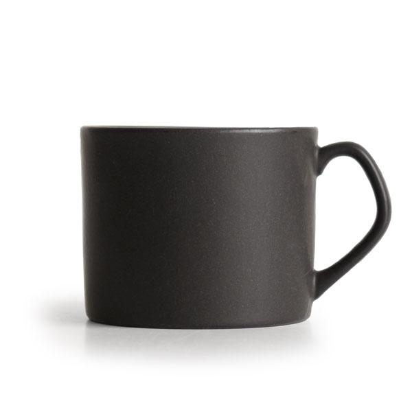 画像1: 【Saveur】サヴール ストレートマグ ブラック/黒/マット/マグカップ/コップ/黒土/カフェ/ロロ/日本製 (1)
