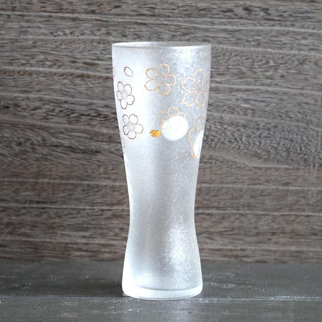 画像1: 【THE Premium NIPPON Taste】泡づくりプレミアム桜L 1個販売/桜柄/桜模様/ガラス/ビアグラス/ガラス食器/ギフト/プレゼント/記念日/お祝い/石塚硝子 (1)