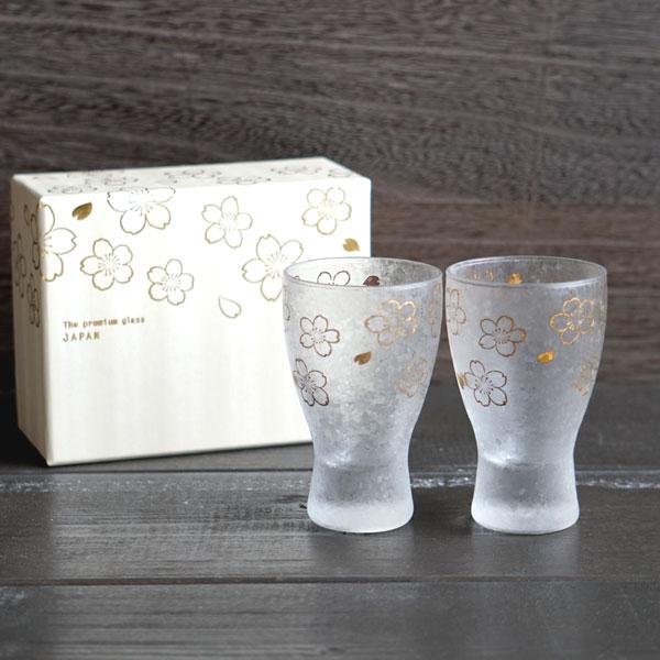画像1: 【THE Premium NIPPON Taste】グラス 桜 ペア 2個販売/ガラス/日本酒グラス/ガラス食器/ギフト/プレゼント/記念日/お祝い/石塚硝子 (1)