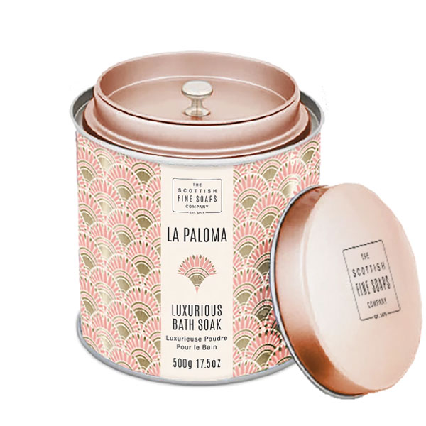 画像1: 【Scottish Fine Soaps】ラ・パロマ バスパウダー(缶入り) 500g 入浴剤 フレグランス スコティッシュスコティッシュファインソープ/イギリス製/ LA PALOMA (1)