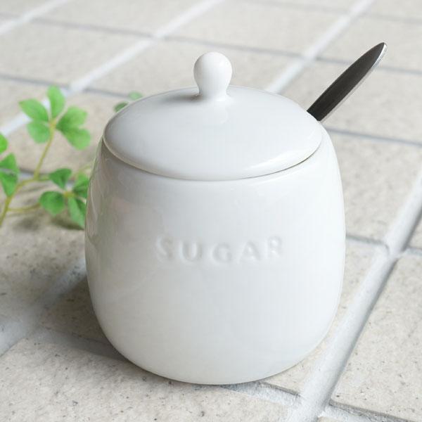 画像1: 【PL】シュガーポット 磁器 LOLO 陶器 ホワイト シンプル 日本製 プレーン (1)