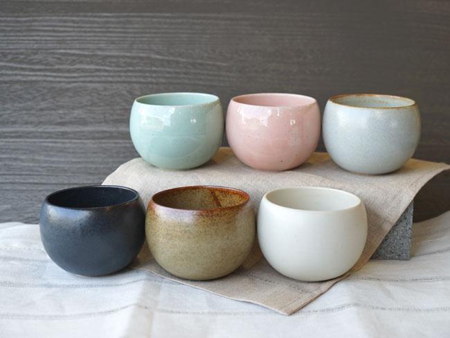画像1: 【SHIKIKA】ころころ 小 煎茶カップ コップ 湯のみ コロコロカップ 陶器製 日本製 180ml (1)