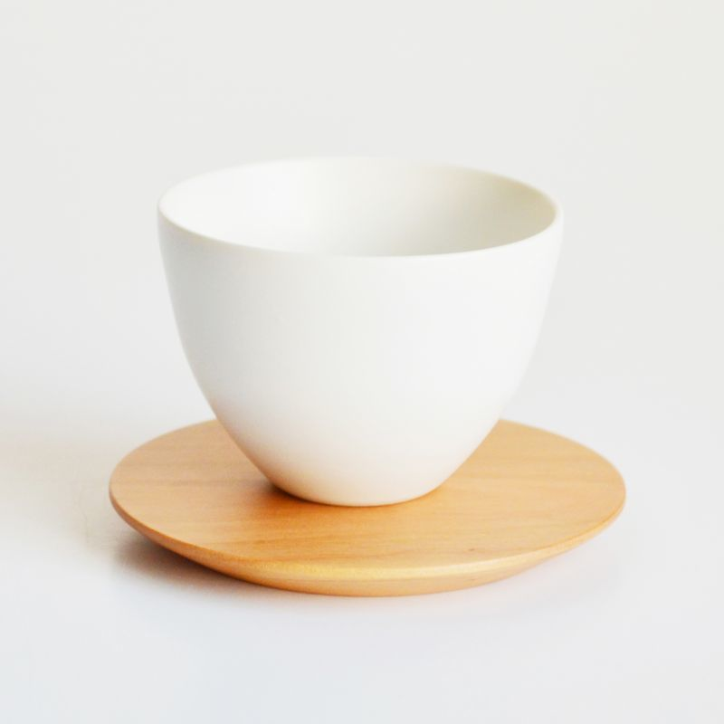 画像1: 【SALIU】TSUKECHI 茶敷 円 山桜 丸 茶托 小皿 木製 天然木 日本製 LOLO ロロ (1)