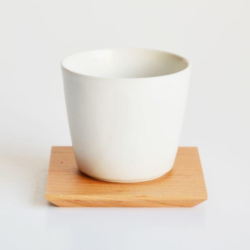 画像1: 【SALIU】TSUKECHI 茶敷 角 山桜 四角 茶托 小皿 木製 天然木 日本製 LOLO ロロ (1)