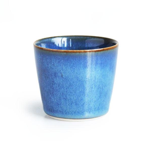 画像1: 【SALIU 】祥-SYO- 湯呑み 藍 青 ブルー ゆのみ カップ コップ 陶器 功山窯 美濃焼 日本製 LOLO ロロ (1)