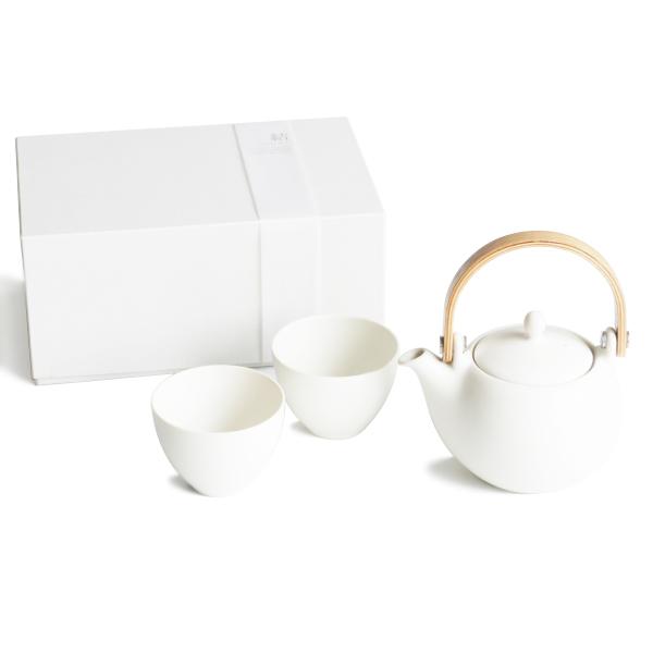 画像1: 【SALIU】結 YUI 土瓶 急須 ギフト 白 ホワイト 陶器 綾鷹 磁器 白磁 丸い かわいい 可愛い 美濃焼 急須 日本製 深山 miyama ギフトセット LOLO ロロ (1)