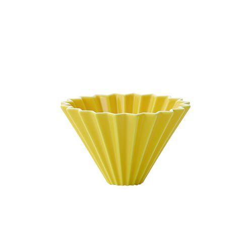 画像1: 【ORIGAMI】オリガミ ドリッパー Dripper S イエロー/珈琲/陶器/磁器/日本製 (1)