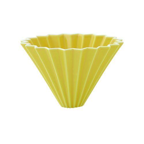画像1: 【ORIGAMI】オリガミ ドリッパー Dripper M イエロー/珈琲/陶器/磁器/日本製 (1)