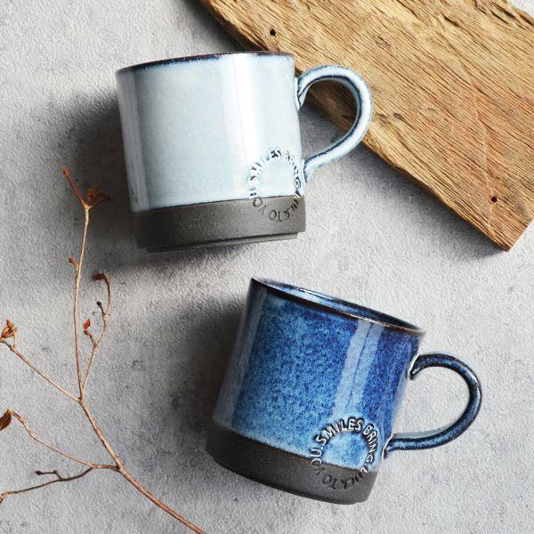 画像1: 【SALIU】マグSA01 マグカップ ホワイト 白 ブルー 青 サリュウ 陶器 美濃焼 ロロ LOLO 日本製 (1)