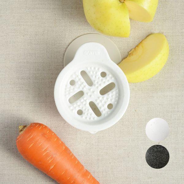 画像1: 【SHIKIKA】おろし おろし揃え 暮らしの小道具 スマートキッチン ミニアイテム おろし 大根おろし 擦りおろし ミニ 白 黒 小さい ツール 磁器 ロロ LOLO 日本製 (1)