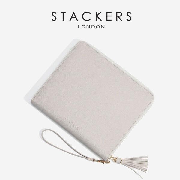 画像1: 【STACKERS】クラッチバッグ グレージュ/ジュエリーケース/グレイベージュ/グレイ/Taupe/アクセサリーケース/イギリスデザイン/ロンドン/JEWELLRY BOX (1)