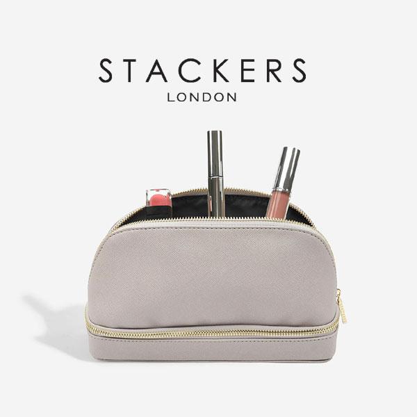 画像1: 【STACKERS】メイクポーチ グレージュ/メイクアップバック/グレイベージュ/グレイ/Taupe/化粧ポーチ/イギリスデザイン/ロンドン/Make UP Bag (1)