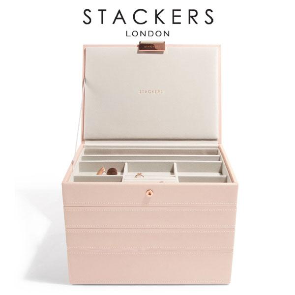 画像1: 【STACKERS】ジュエリーボックス 4個セット ピンク/クラシック/スタッキング/カスタマイズ/ジュエリーケース/ジュエリートレイ/重ねる/重なる/ブラッシュピンク/アクセサリーケース/イギリスデザイン/ロンドン/JEWELLRY BOX (1)