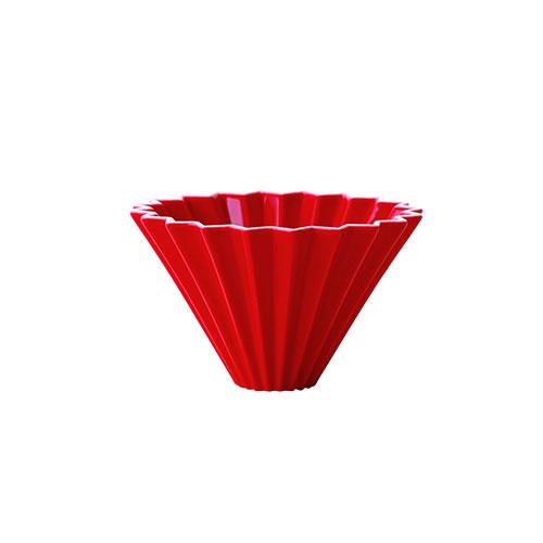 画像1: 【ORIGAMI】オリガミ ドリッパー Dripper S レッド 赤 RED 珈琲 陶器 磁器 日本製 (1)