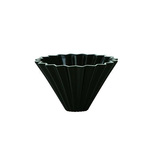 画像1: 【ORIGAMI】オリガミ ドリッパー Dripper S ブラック 黒 BLACK 珈琲 陶器 磁器 日本製 (1)
