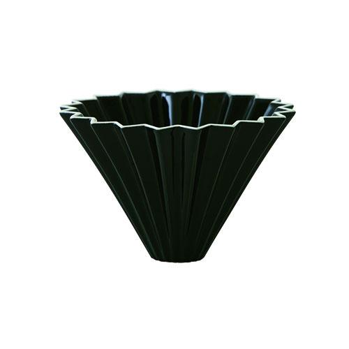 画像1: 【ORIGAMI】オリガミ ドリッパー Dripper M ブラック 黒 BLACK 珈琲 陶器 磁器 日本製 (1)