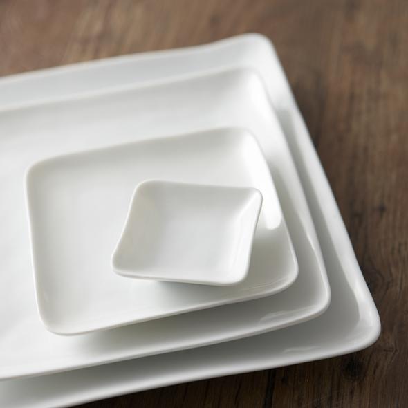 画像1: 【BLANC】スクエアプレート(L)白磁 陶器 白 皿 大皿 日本製 深山 miyama (1)