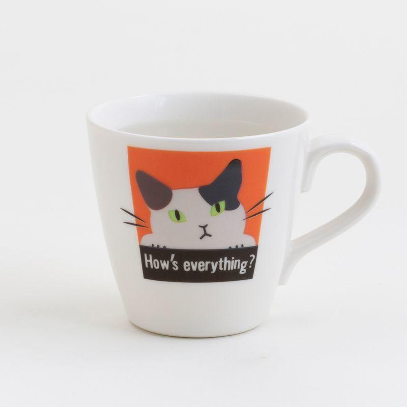 画像1: 【Abeille】温感マグ ミケ ネコ /マグ/マグカップ/コップ/猫/キャット/cat/かわいい/変わる (1)