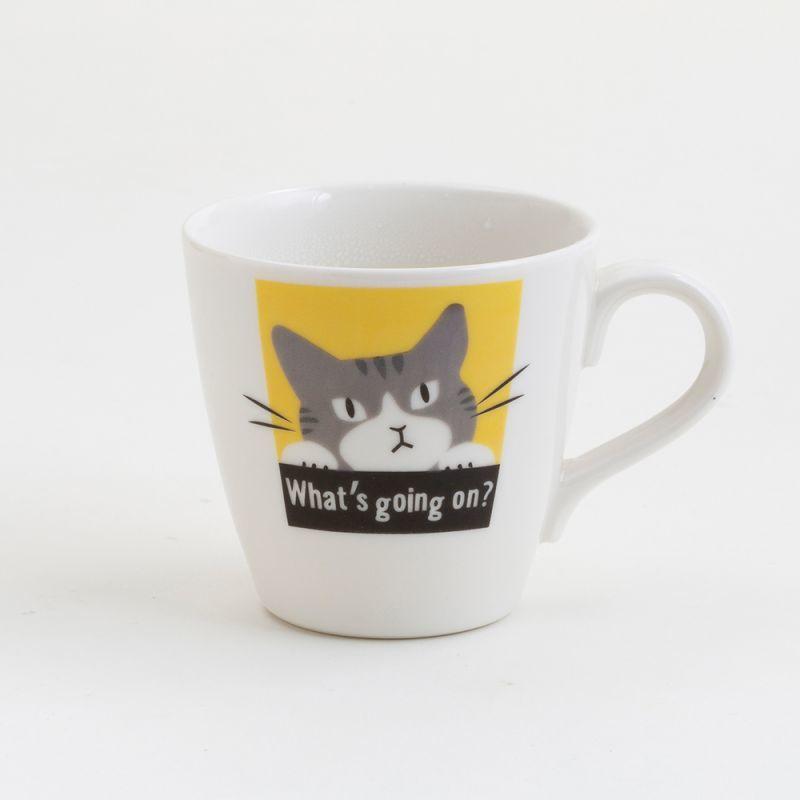 画像1: 【Abeille】温感マグ サバトラ ネコ /マグ/マグカップ/コップ/猫/キャット/cat/かわいい/変わる (1)