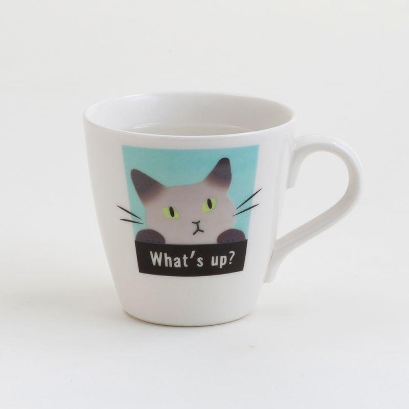 画像1: 【Abeille】温感マグ シャム ネコ /マグ/マグカップ/コップ/猫/キャット/cat/かわいい/変わる (1)
