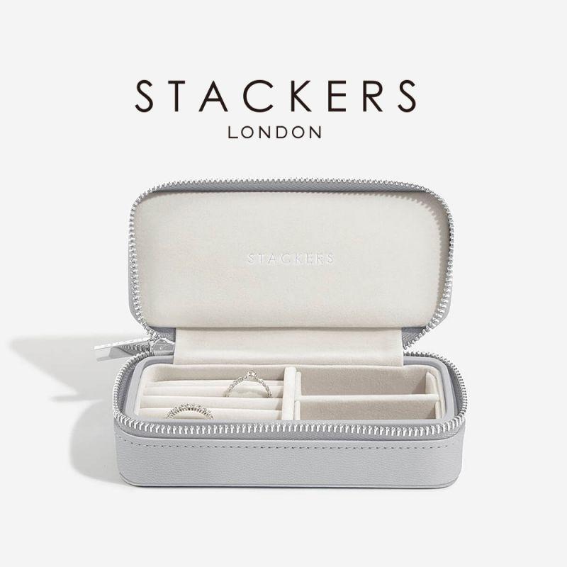 画像1: 【STACKERS】トラベルジュエリーボックス M ペブルグレー gray グレイ グレー  英国 スタッカーズ ジュエリーケース アクセサリーケース イギリス ロンドン /ジュエリーボックス トラベル/ジュエリー アクセサリー ケース 収納 (1)