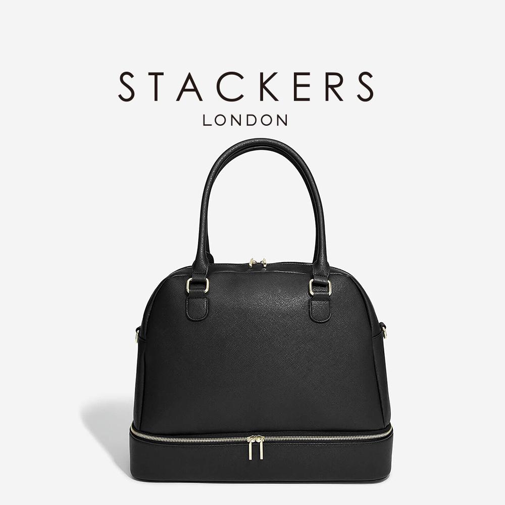 画像1: 【STACKERS】ハンドバッグ ブラック (1)