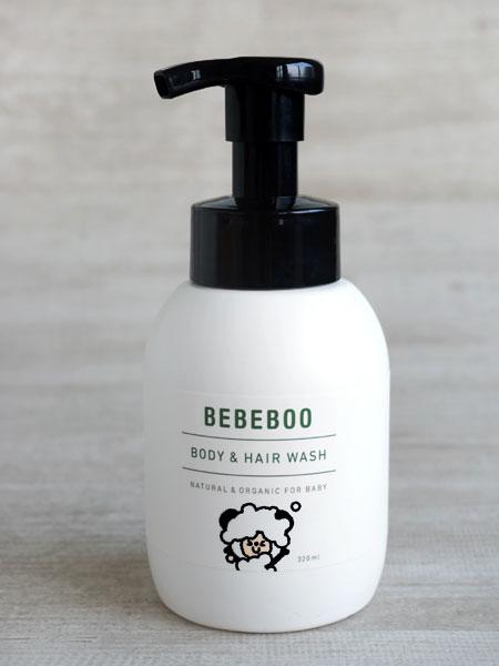 画像1: 【BEBEBOO】ベベブー BODY & HAIR WASH 320mL/ボディ&ヘアウォッシュ320mL/ベベブー/泡ポンプ/泡ボトル/フォーム (1)