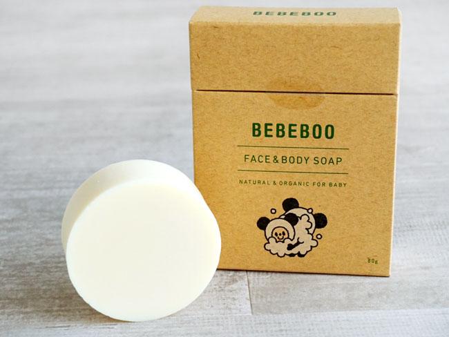 画像1: 【BEBEBOO】ベベブーFACE&BODY SOAP 80g/フェイス&ボディソープ 80g/ベベブー/天然由来100%/コールドプロセス製法/優しい (1)