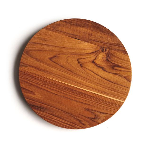 画像1: 【TEAK WOOD】プレート ラウンド M 22cm/カップホルダー無し/丸/トレー/プレート/トレイ/チーク材/木製/ウッド/天然木/インスタ (1)