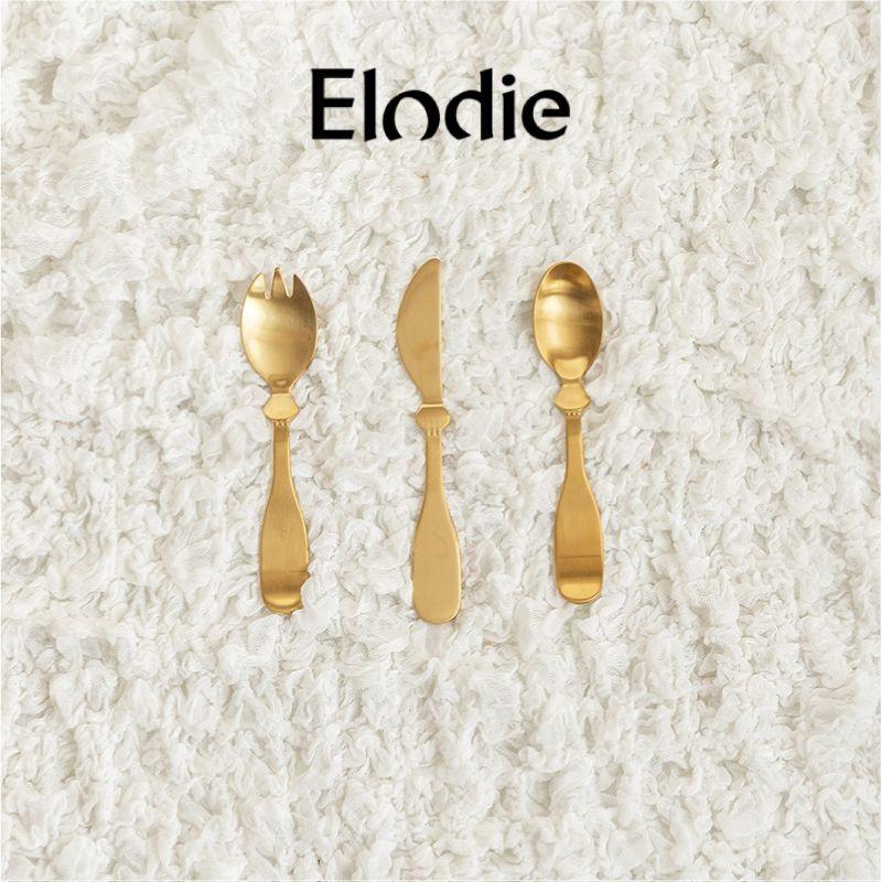 画像1: 【Elodie】ベビー カトラリー セット フォーク スプーン ナイフ エロディー お食い初め ギフト 出産祝い  (1)