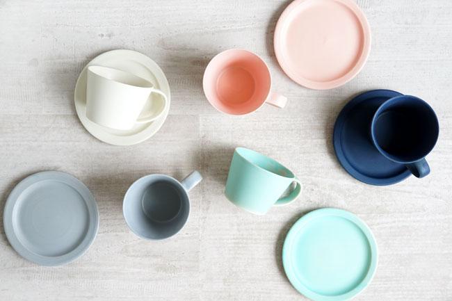 画像1: 【作山窯-SAKUZAN-】SAKUZAN DAYS Sara Cup&Saucer カップ&ソーサー/コーヒーカップ/サラ/カフェ/磁器/日本製/陶器 (1)