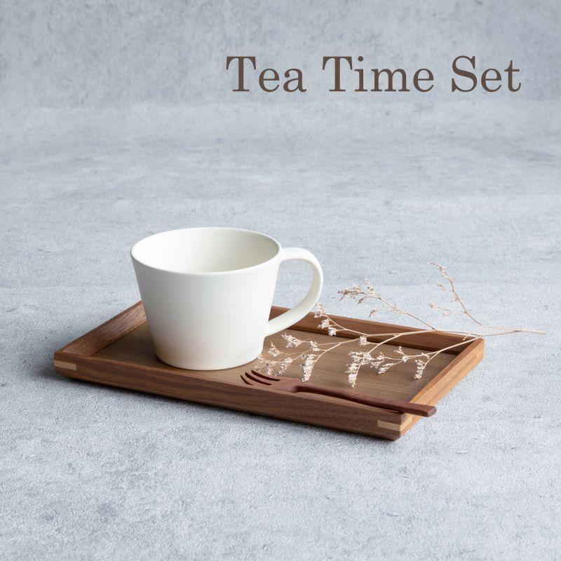 画像1: 【GIFT COLLECTION】K SAKUZAN DAYS Sara ティータイムセット マグ トレー フォーク Tea Time Set  新生活 ギフト 朝食 コーヒーカップ カフェ 磁器 日本製 陶器 作山窯  (1)