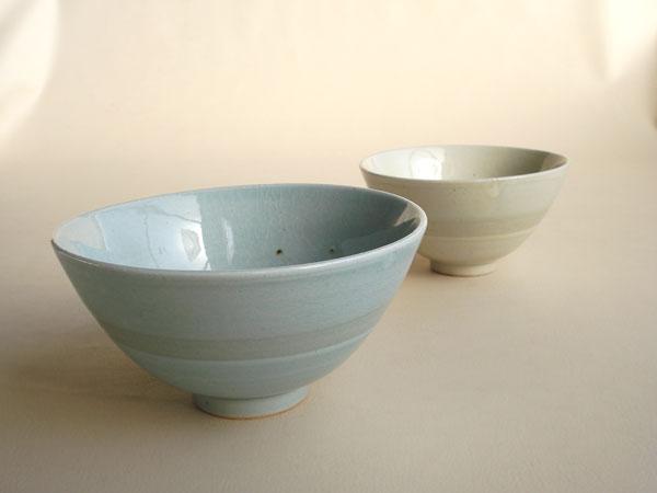 画像1: 【作山窯-SAKUZAN-】夫婦茶碗 ブルー アイボリー/作山/陶器/日本製 (1)