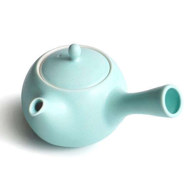 画像1: 【SALIU】結 YUI 急須 浅葱/ミント/ターコイズ/グリーン/ブルー/マット/丸い/かわいい/可愛い/美濃焼/急須/磁器/日本製/深山/miyama おしゃれ きゅうす 茶こし 取っ手 人気 おすすめ (1)