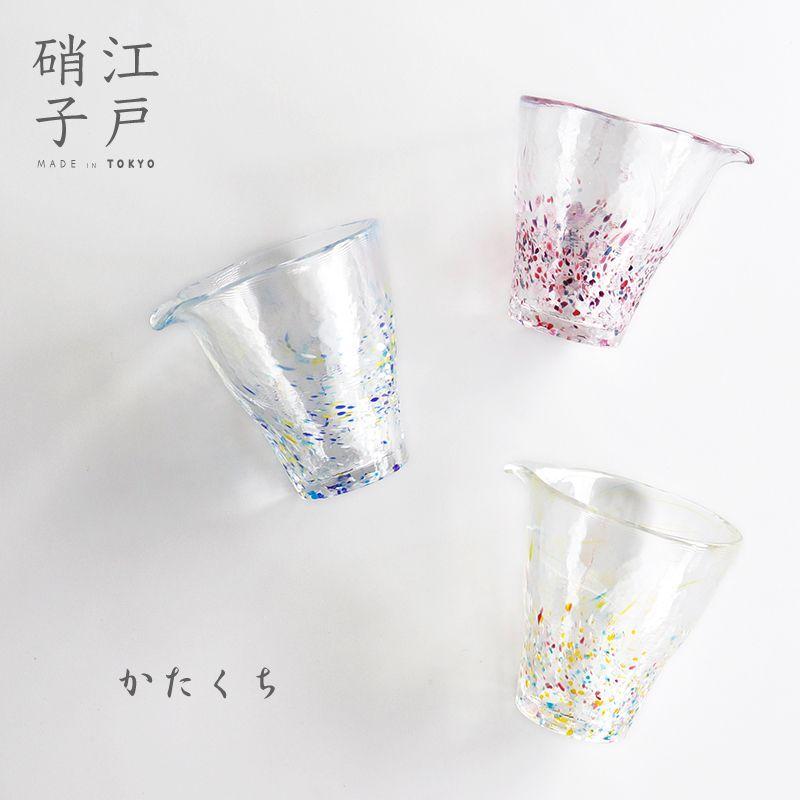 画像1: 【江戸硝子】ガラス 片口 徳利 酒器 江戸 浮世 うきよ 手作り (1)