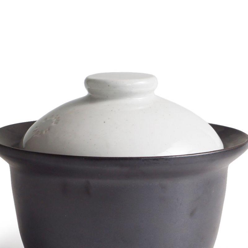 画像1: 【SALIU】ごはん鍋専用外蓋 白 部品販売 日本製 簡単 ONABE 直火用 (1)
