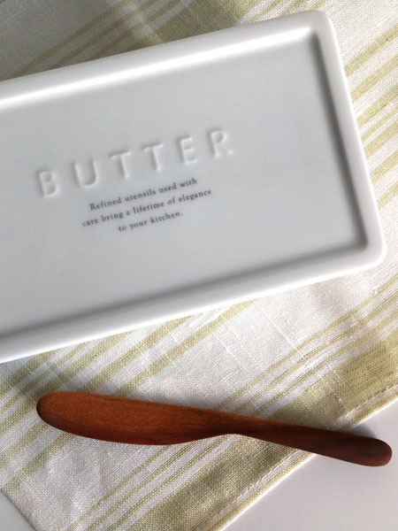 画像1: 【BS KITCHEN】バターナイフ マーガリンナイフ 木製 (1)