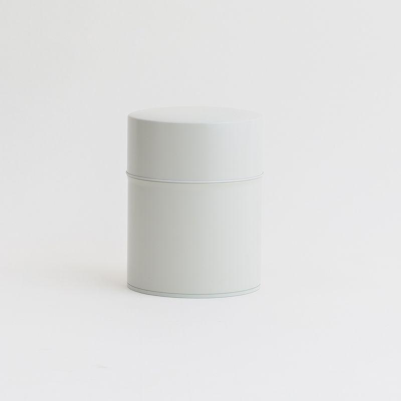 画像1: 【SALIU】茶缶 375g 保存容器 白 オフホワイト 和テイスト 和風 シンプル キャニスター 保存容器 ブリキ 日本製 LOLO (1)
