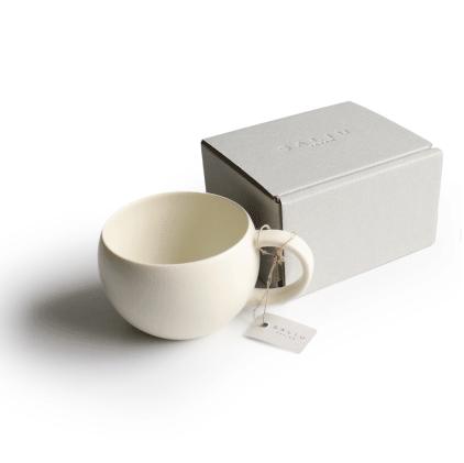 SALIU 結 ギフトにもぴったり! ころんと可愛らしいフォルム おしゃれな紅茶用カップ