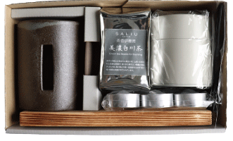 SALIUさのか茶香炉ギフトセット お茶のギフトに さび