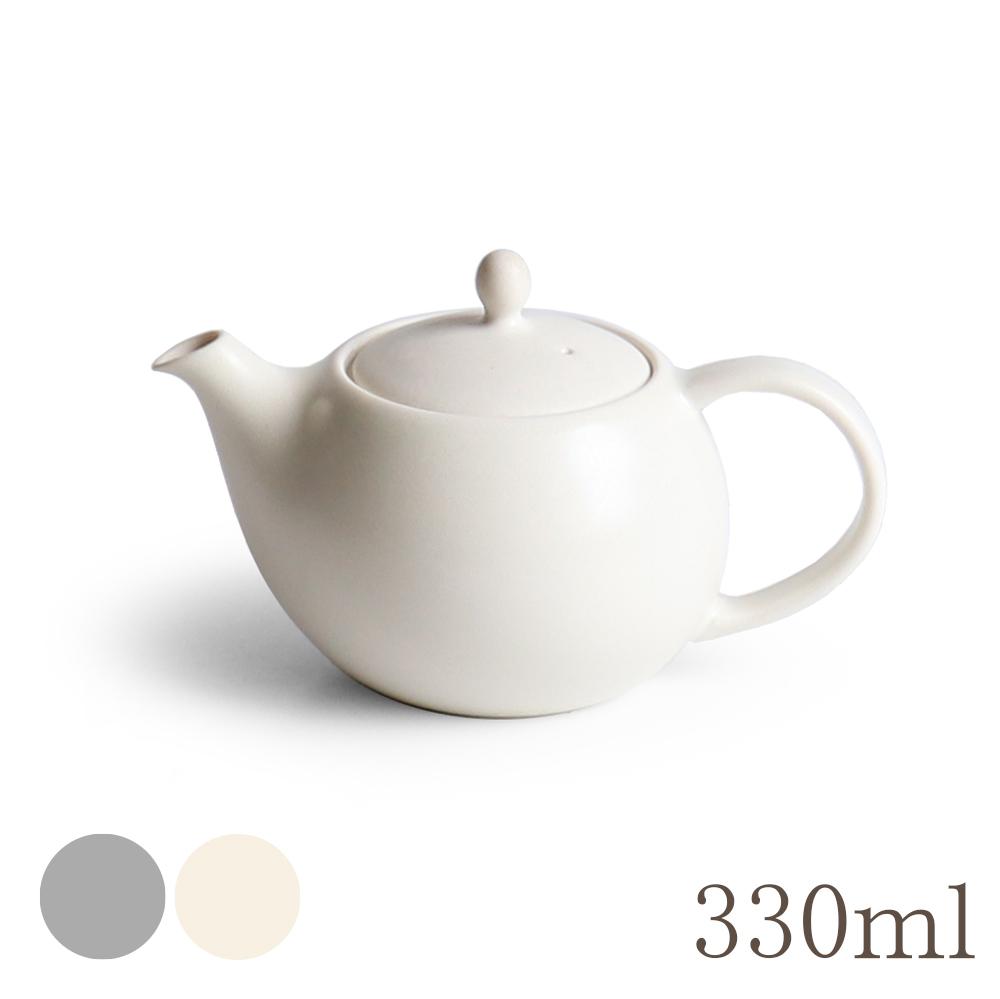 画像1: 【SALIU】結 YUI  ティーポット 330ml 白 灰 ホワイト グレー 急須 陶器  磁器 白磁 丸い かわいい 可愛い 美濃焼  日本製 ティーカップ LOLO ロロ おしゃれ  茶こし 人気 おすすめ デザイン 紅茶のための茶器 (1)