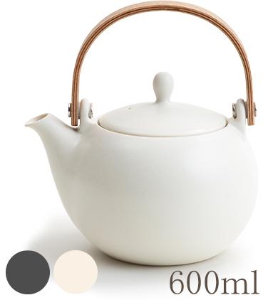 画像1: 【SALIU】結 YUI 土瓶 急須 600ml 陶器/磁器/白磁/丸い/かわいい/可愛い/美濃焼/急須/日本製/ティーポット おしゃれ かわいい きゅうす 茶こし 取っ手 人気 おすすめ  (1)