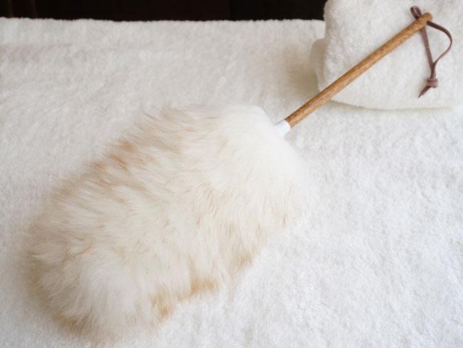 画像1: 【mi woollies】ダスター L/羊の毛/ニュージーランド製 お掃除道具 ホコリ取り 羊毛 見せる お掃除  (1)