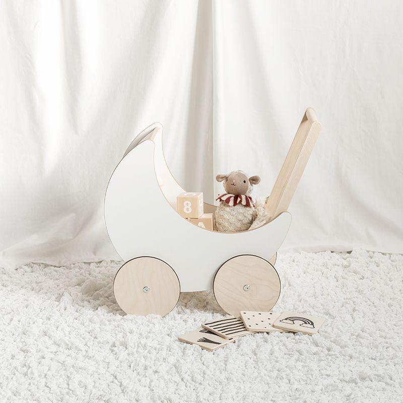 画像1: 【ooh noo】木製 トイプラム 手押し車 オーノー バギー おもちゃ入れ おもちゃ  (1)