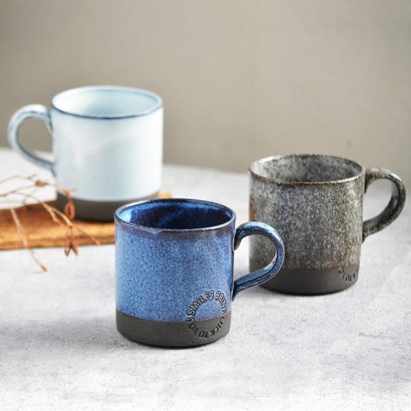 画像1: 【SALIU】マグSA01 マグカップ ホワイト 白 ブルー 青 ブラック 黒 サリュウ 陶器 美濃焼 ロロ LOLO 日本製 (1)