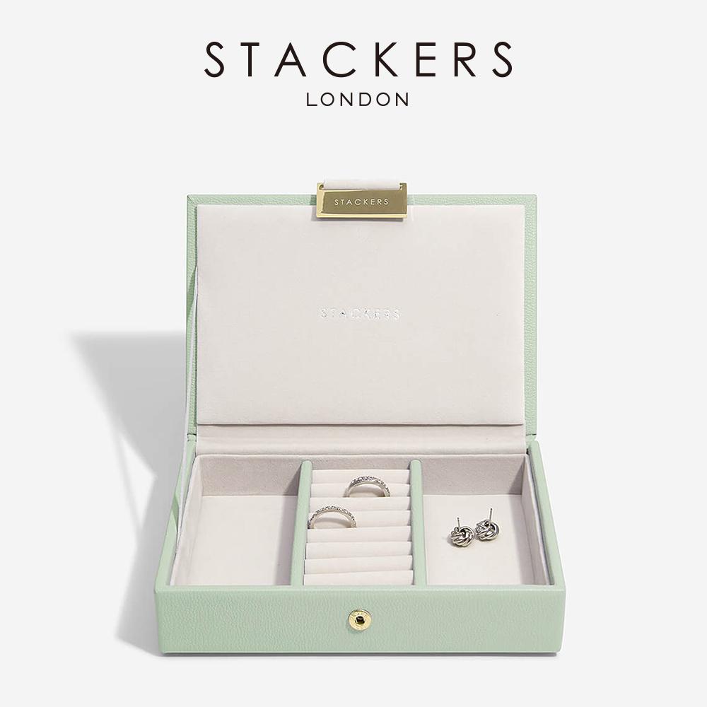 画像1: 【STACKERS】ミニ ジュエリーボックス Lid セージグリーン green 緑 (1)