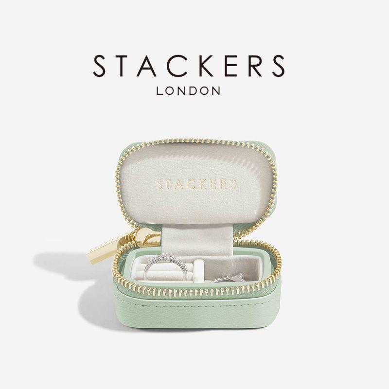 画像1: 【STACKERS】トラベル ジュエリーボックス S セージグリーン Sage Green (1)