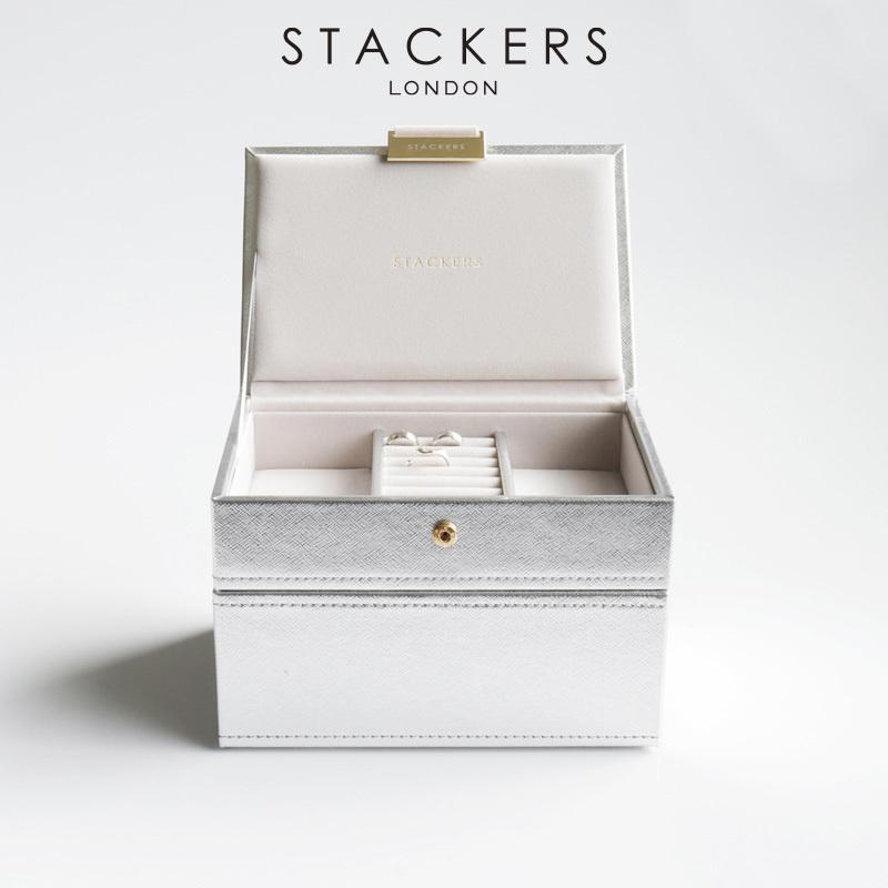 画像1: 【STACKERS】ミニ ジュエリーボックス 2セット シルバー Silver  スタッカーズ  ユナイテッドアローズ UNITED ARROWS 日本限定カラー (1)